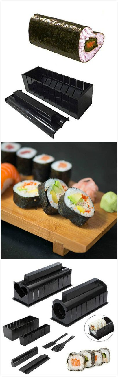 Sushi Making Kit.DIY Rice Roller Mold Kitchen Cooking Tools .Use the coupon code :Happyday11,get 8% off now ! #kitchen #gadgets #home