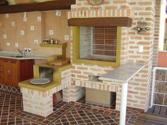 area de serviço com churrasqueira e fogão a lenha - Pesquisa Google