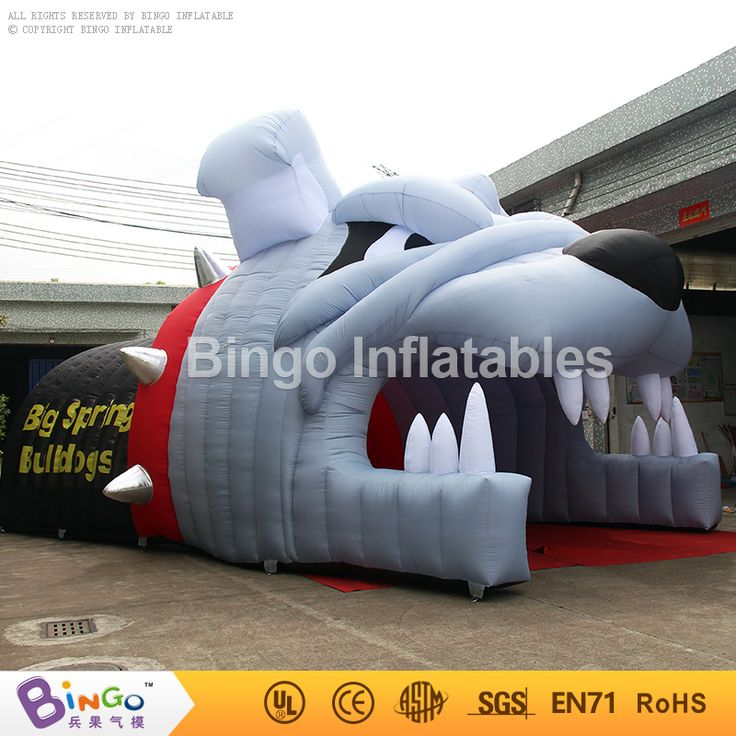 10x8x5M Inflatable Bulldog Tunnel, Montclair Bulldog Tunnel Inflatable Entry Tunnel, <font><b>Baseball</b></font> Inflatable Sports Tunnel for Sport