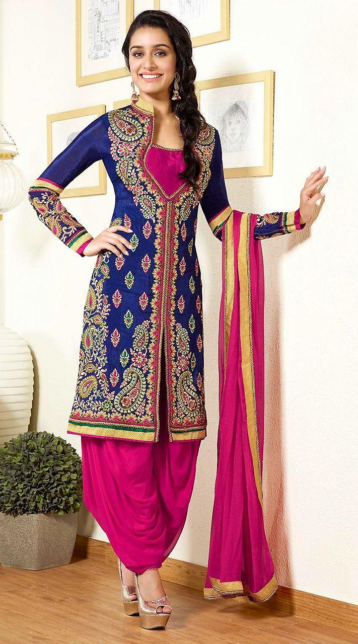bfa643266944 Shraddha Kapoor In Blue Punjabi Suit