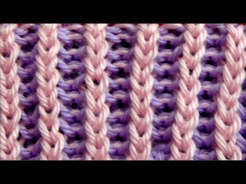 Cómo Tejer PUNTO INGLÉS en COLORES-How to Knit Two Colour Brioche Stitch2 Agujas (288) - YouTube