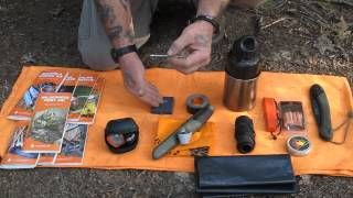 Survival Basic Series DVD Part 5, via YouTube (a really good series on items for your bug-out bag and also the other videos show you how to use the stuff).