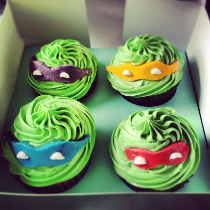 TMNT cupcakes #cupcakes