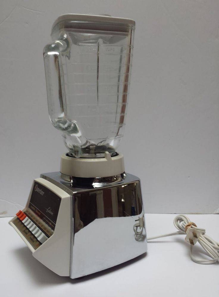 Vintage Osterizer Galaxie 10 Speed Chrome Blender WORKS Beautifully!