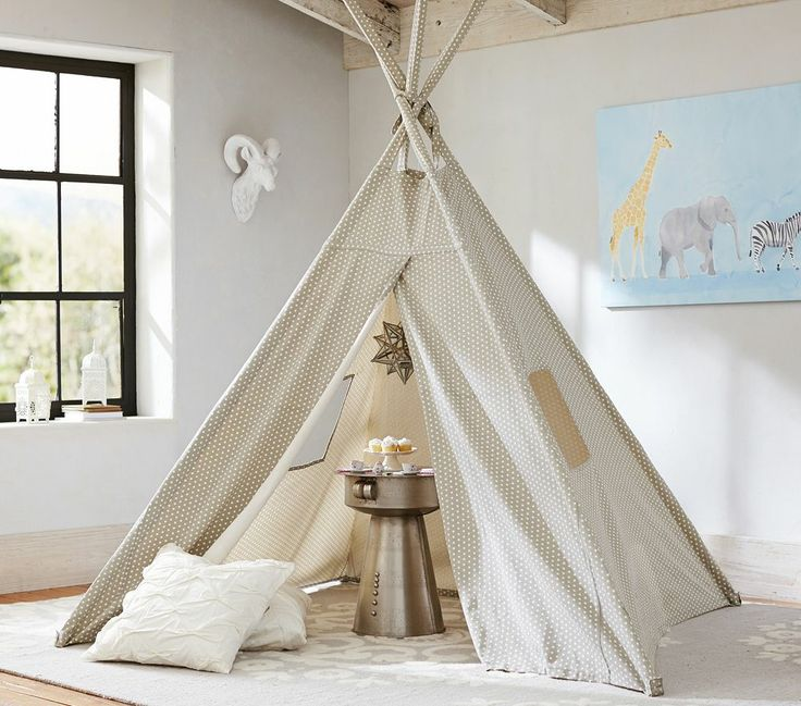 teepee pottery barn kids little one pinterest. Black Bedroom Furniture Sets. Home Design Ideas