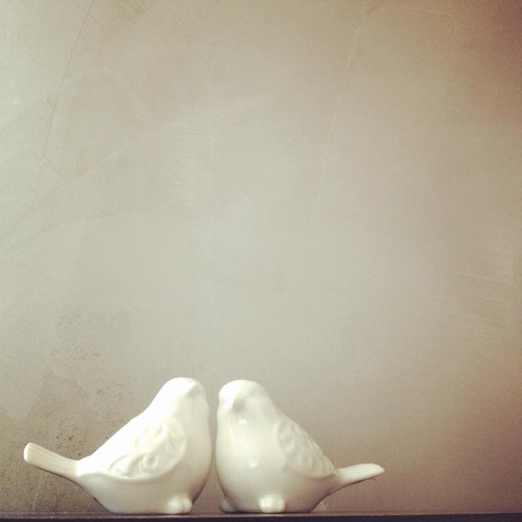 Pier 1 White Bird Salt & Pepper Shakers