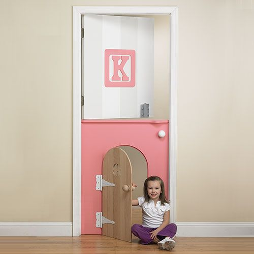 """Childs Mini-Door in Pink from PoshTots - I absolutely LOVE this for Talia but the website says, """"call for pricing"""" Lord, have mercy! How much does this cost?! Can I make it?????? Maybe …"""