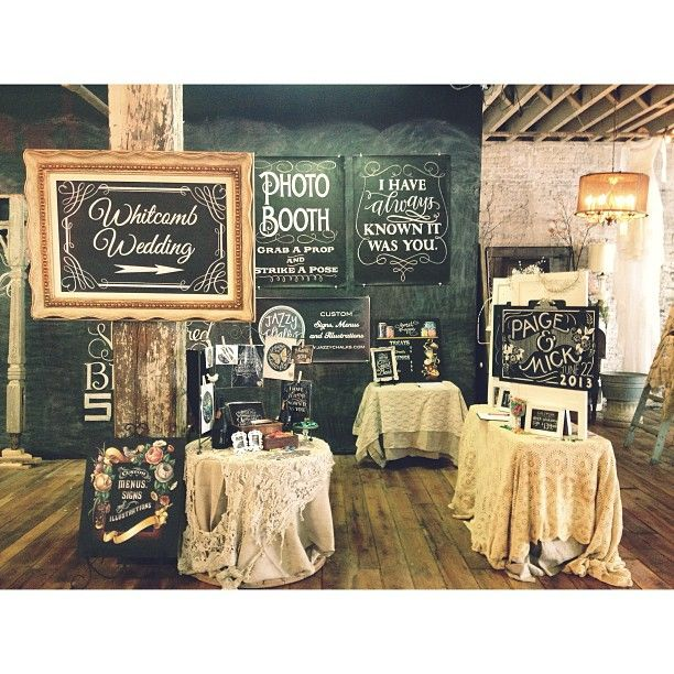 Bridal Show Booth - Wedding signs Chalkboard art by Jazzy Chalks