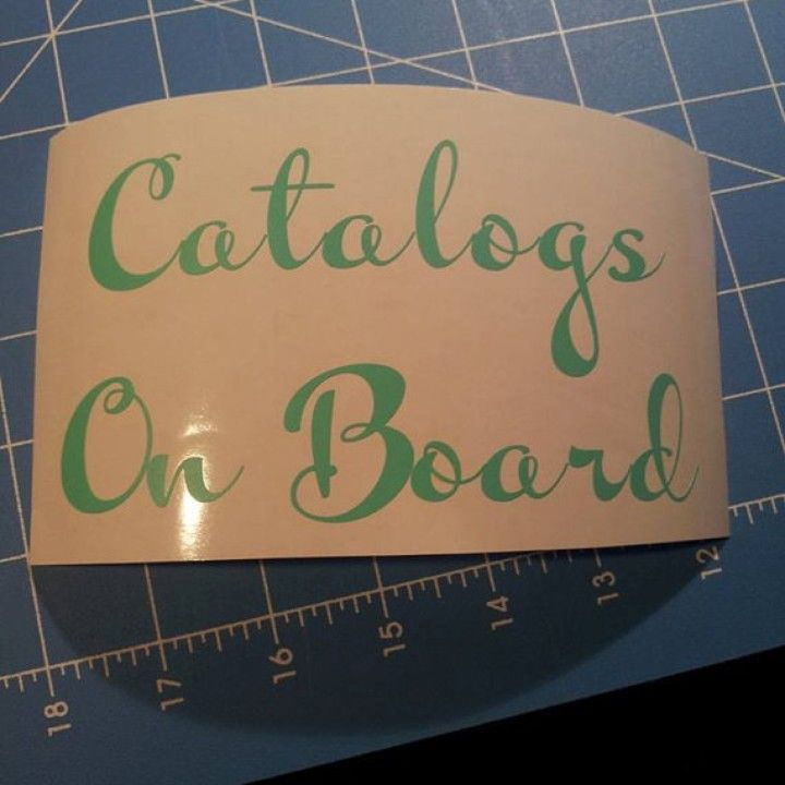 Catalogs on board vinyl decal from kutz vinyl for 4 00