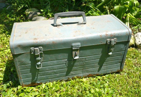 Toolbox Craftsman Toolbox Metal Storage Box Man by MaxsUniquities