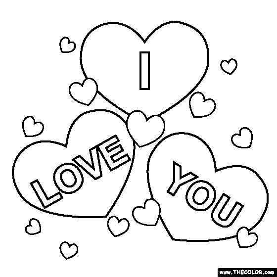 i love you coloring pages for teenagers printable 02 more - Word Girl Coloring Pages