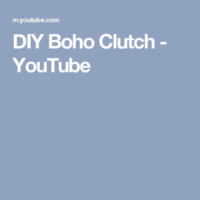 DIY Boho Clutch - YouTube