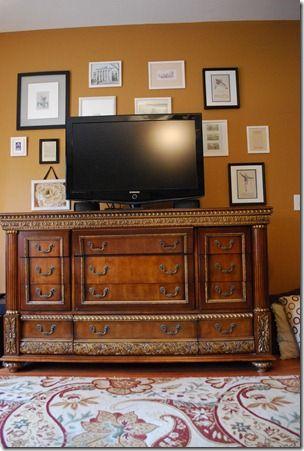 television console decor | TV Console | decorating Ideas