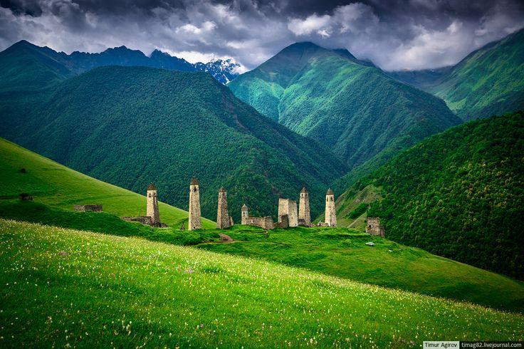 Caucasus mountains, Ingushetia   Тур, Места, Фотографии