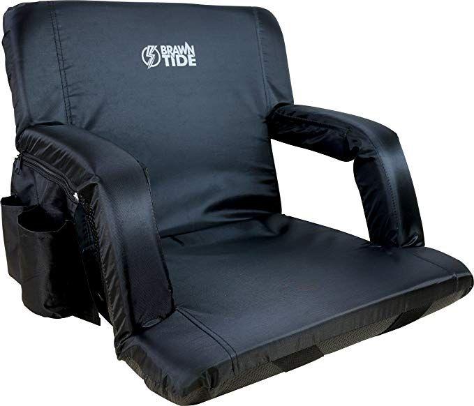 Amazon Com Brawntide Portable Stadium Seat Chair Extra Thick