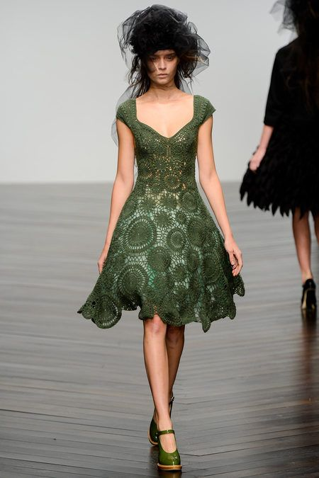 This crocheted dress is stunning!!    John Rocha Fall 2013 Ready-to-Wear Collection Slideshow on Style.com
