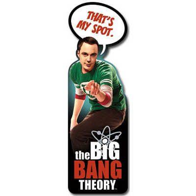 The Big Bang Theory - That's My Spot Shapemark Bookmark