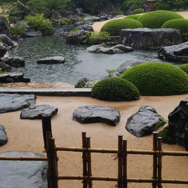 #足立美術館#雨の日本庭園