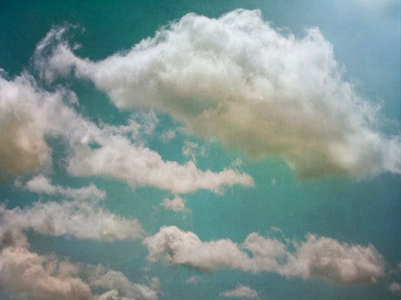 My Sky II - Art Print. Large Print, nature photography, clouds, sky, turquoise blue, landscape photography, cloud photograph..
