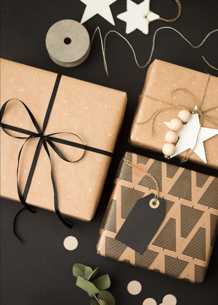 Sandramarias.com - Enkla julklappsinslagningar & 3 DIY:ade varianter