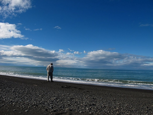 Solitude on a beach in New Zealand. Photo courtesy of Dr. Benjamin Ross.