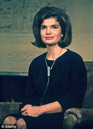 Mrs. Kennedy prepares for her address to the nation in February 1964 to acknowledge the condolences sent to her family after President Kennedy's assassination.