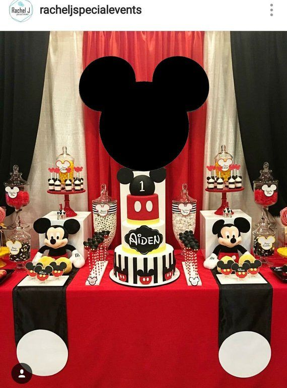 Mickey Mouse Head 2FT Customizable Cutouts Party Decor