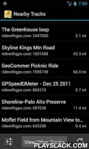 Track Navigator  Android App - playslack.com ,  Standard navigation apps are designed to find the most direct route from point A to point B. Track Navigator is a different kind of navigation app that is designed to help you follow a pre-determined route (track) created for another purpose, such as exercise or sight-seeing. Common types of tracks include hiking trails, cycling tours, or motorcycle rides. With Track Navigator, you can:• Find nearby tracks or import your own• Examine the track…