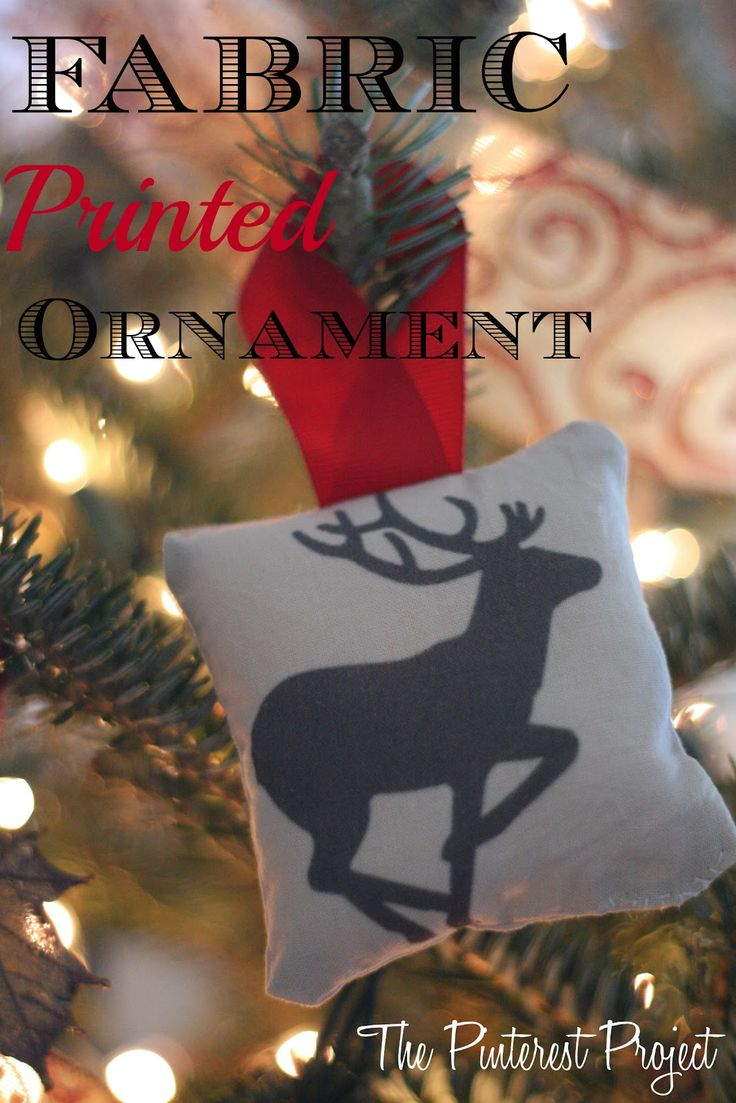Custom name ornaments - The Pinterest Project Printing On Fabric To Make Custom Christmas Ornaments