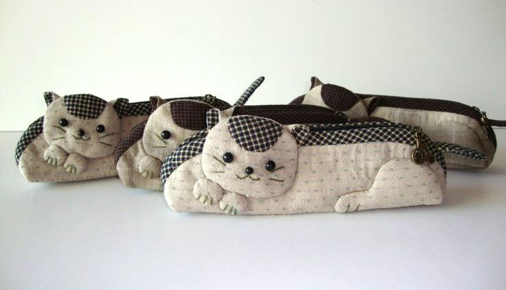 17 best Gatos images on Pinterest | Cats, Pencil bags and Pencil ...