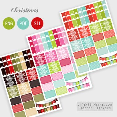 lifewithmayra | Free Christmas Planner Stickers