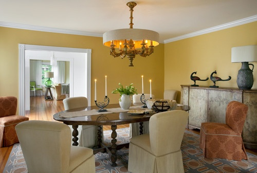 Traditional dining room by andrew suvalsky designs use for Traditional dining room color ideas