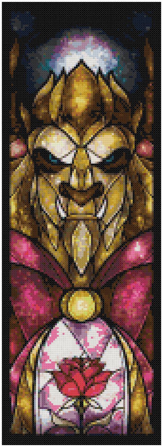 Cross stitch pattern  Disney  Beast Stained Glass by XStitchAddict