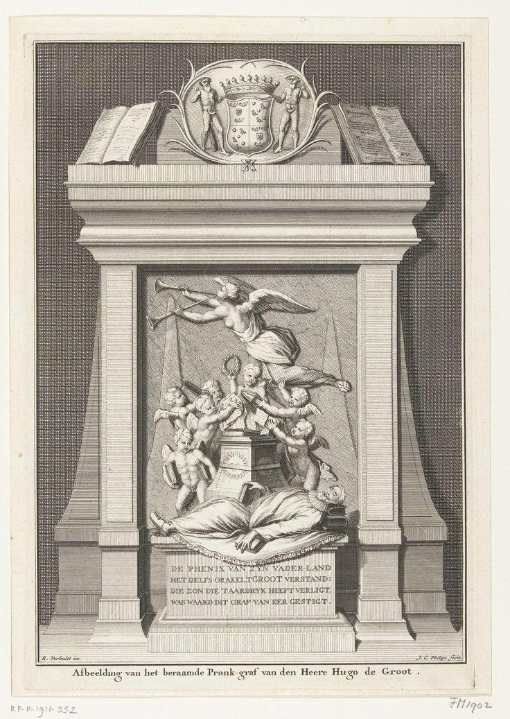 Alternatief ontwerp voor grafmonument Hugo de Groot in de Nieuwe Kerk.