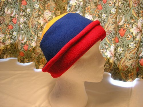 Handmade Small Hat in Four Colours, Fleece. from Jacaranda  age 5 years upwards. £8.99