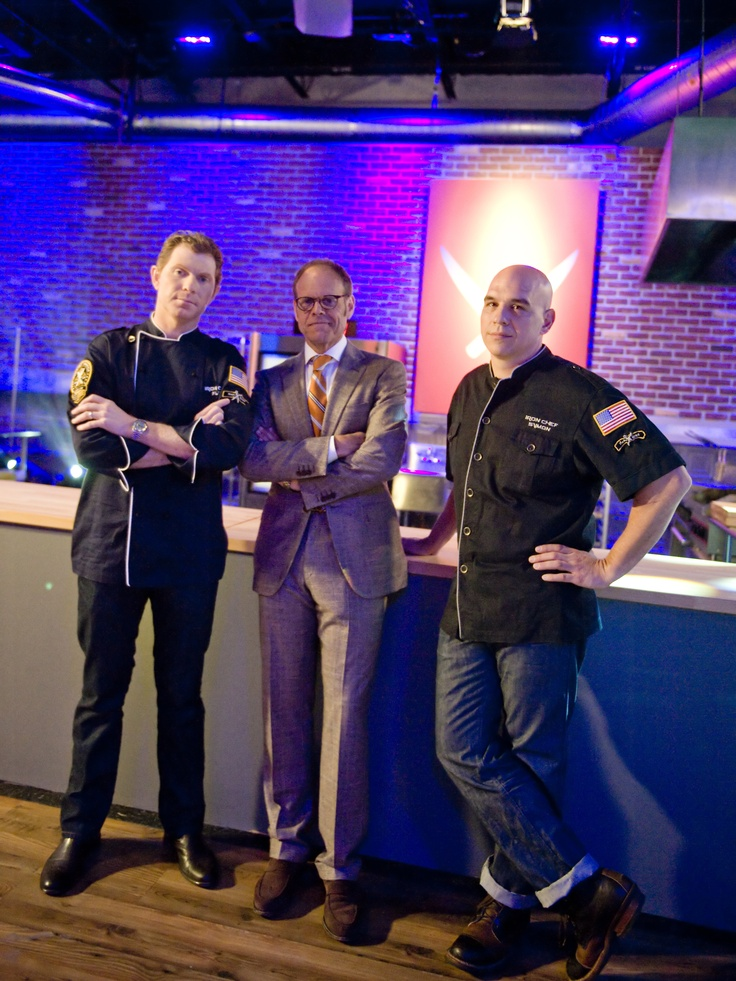 Bobby Flay,Alton Brown & Micheal Simon Iron Chef America