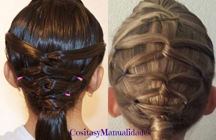 Peinado Con Coletas| Peinados Para Ninas| Peinados Sencillos y Faciles| ...