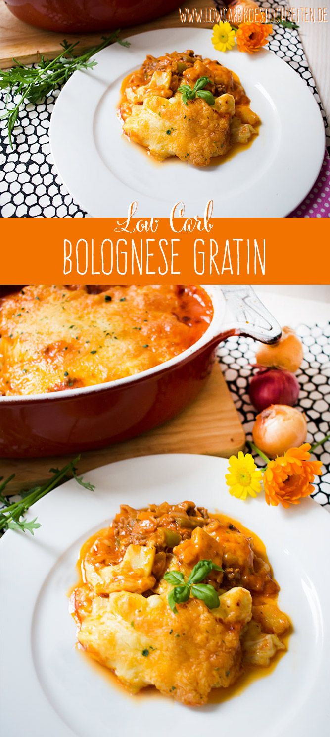 Begeistert Groß und Klein gleichermaßen: Low Carb Bolognese Gratin www.lowcarbkoestlichkeiten.de