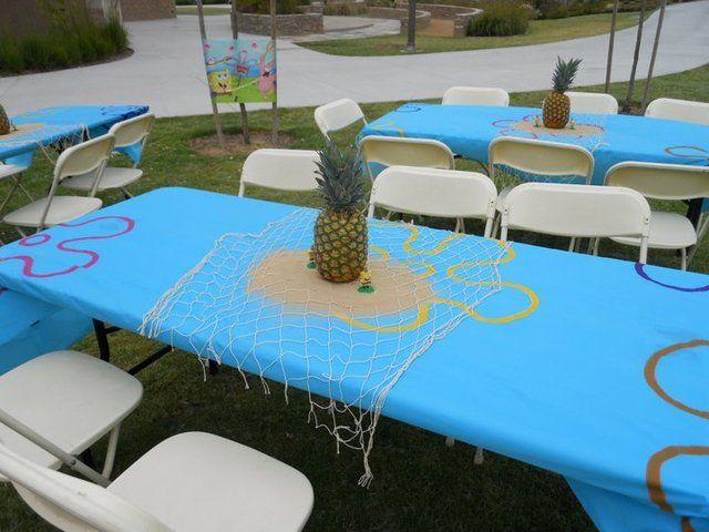 sponge bob table idea