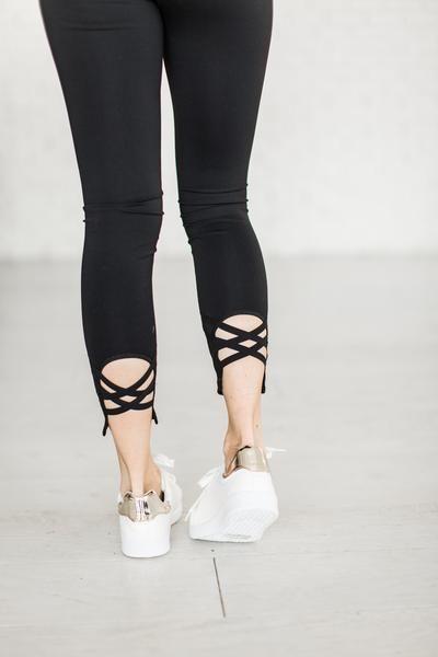 Criss Cross Leggings - Back - Mindy Mae's Market