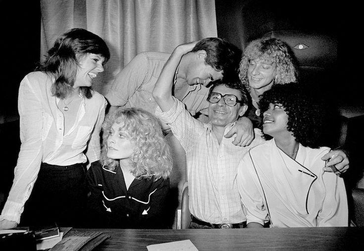 Annie-Golden-Beverly-d-Angelo-Treat-Williams-director Miloš Forman Don-Dacus-and-Cheryl-Barnes-1979
