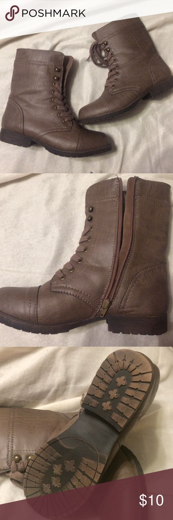 Rampage Jeliana Round Toe Synthetic Mid Calf Boot New, never used Rampage Shoes Combat & Moto Boots