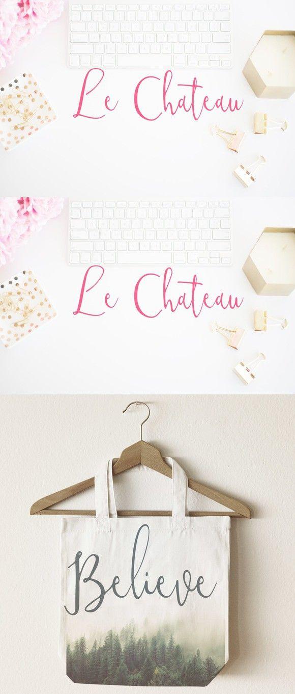 Le Chateau Script Font. Script Fonts. $13.00
