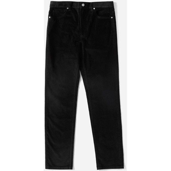 Everlane Men's Corduroy 5-Pocket Slim Pant ($68) ❤ liked on Polyvore featuring men's fashion, men's clothing, men's pants, men's casual pants, black, mens slim fit corduroy pants, mens slim pants, men's 5 pocket corduroy pants, mens corduroy pants and men's 5 pocket pants