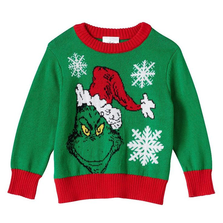Toddler Boy The Grinch Holiday Sweater, Size: