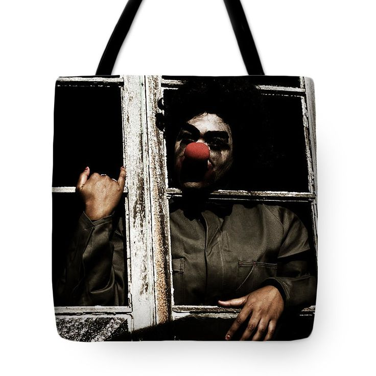 Halloween Tote Bag featuring the photograph A Window To Clown Nightmares by Jorgo Photography - Wall Art Gallery
