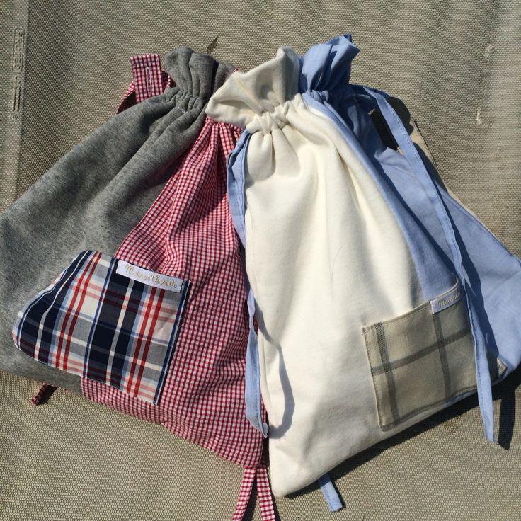 I sacchettini zainetto per l'asilo! Spedizioni in tutta Italia vania@moineeversetti.it #asilo