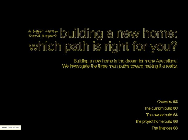 Architect home, project home or owner-builder home ... Which path is right for your dream home? http://digitaledition.lighthome.com.au/?iid=80630#folio=28