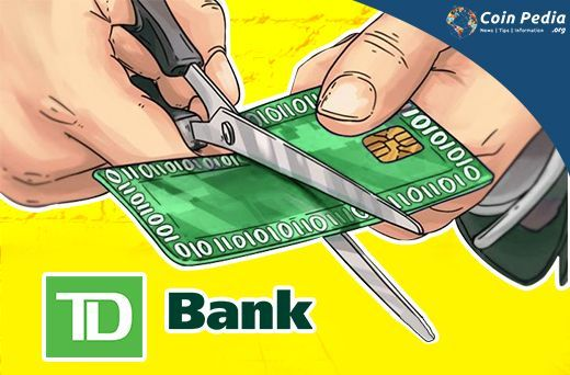 Toronto-Dominion Bank (TD Bank) has stopped customer from using credit cards to make cryptocurrency purchase and the decision taken by other several banks.