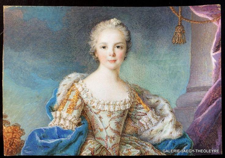 Isabelle de BourbonParme, portrait miniature Miniature